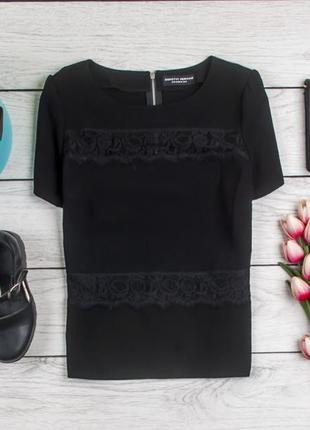 Черная блуза гипюр  от dorothy perkins рр 12 наш 46
