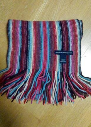 Шерстяной нарядный шарфик