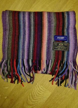Шерстяной яркий шарф