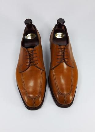 Campanile made in italy мужские кожаные туфли броги оксфорды коричневого цвета