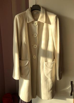 Topshop пальто молочного цвета