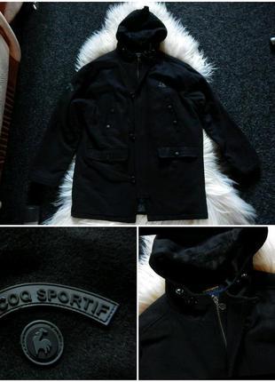 Le coq sportif пальто оригинал с капюшоном,стильное капюшон