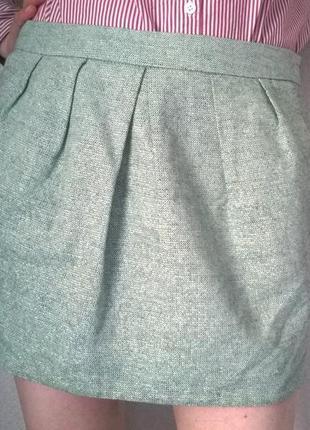 Жаккардовая мини-юбка с люрексом