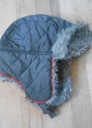 Зимняя теплая шапка ушанка на мальчика tu 3-6лет.