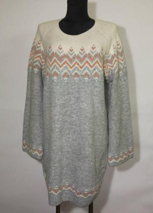 Новое вязаное платье с широкими рукавами, от бренда tu.