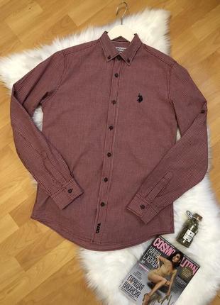 Рубашка брендовая модная клетчатая стильная для подростка