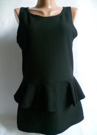 Чёрная блуза  туника select