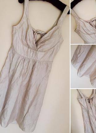 Платье с золотым напылением вискоза