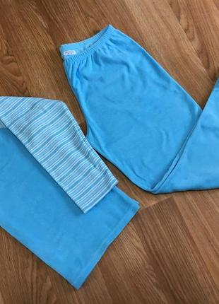 Домашний махровый костюм комплект пижама queentex л хл небесно голубой