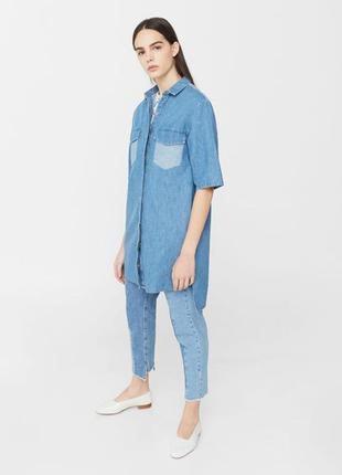 Стильная рубашка-платье mango