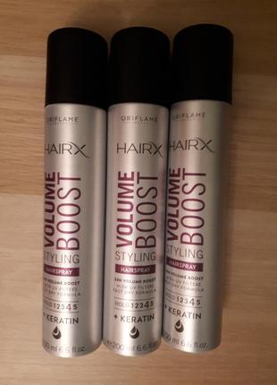Лак для волос с эффектом объема hairx 200мл