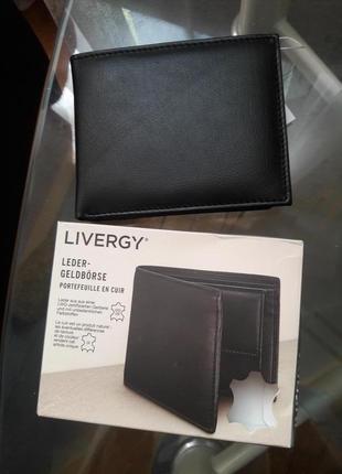 Livergy компактный кошелёк портмоне натуральная кожа много отделений для карт