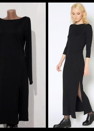 Платье черное базовое south