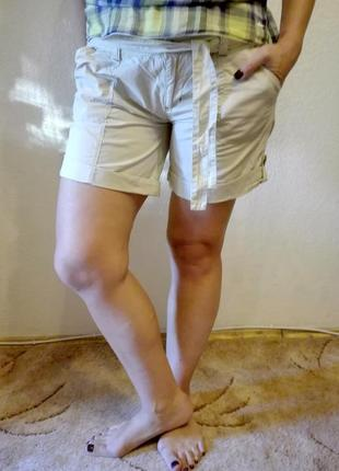 Легкие шорты с поясом denim co 100% хлопок