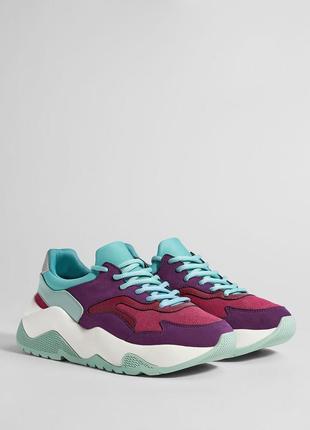 Комбинированные кроссовки на платформе, 36-40