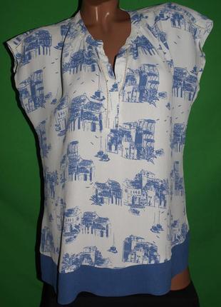 Нежная красивая блуза (л замеры) 100% вискоза, с узором, отлично смотрится