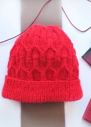 Шапка шапочка тренд красная