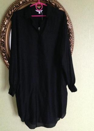 Шелковое платье рубашка с биркой