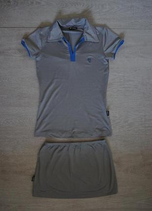Продается женский стрейчевый спортивный костюм футболка юбка dress code