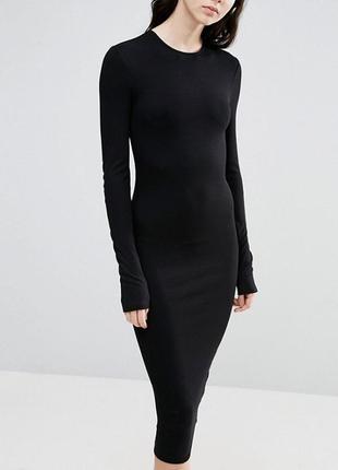 Черное миди платье asos