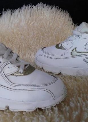 Nike air max кроссовки кожа 26 р по ст 17 см в хорошем состояние