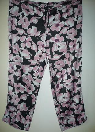 Штаны пижамные в цветах