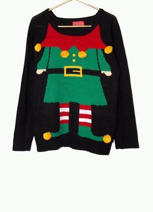 Крутой свитер на девочку cosy christmas на 11-12 лет