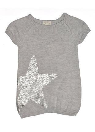 Новое вязаная серое платье для девочки, ovs kids, 840835