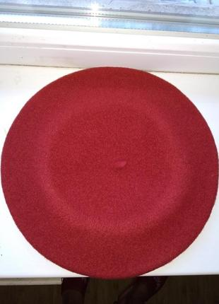 Берет фетровый чешской фирмы tonak и fezko. темно-красный терр 030876