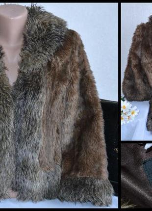 Брендовая шуба полушубок с карманами per una акрил