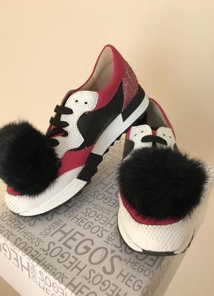 Супер модные кроссовки hego's (италия) 37 размер