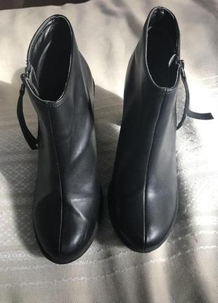 Черные ботильоны new look