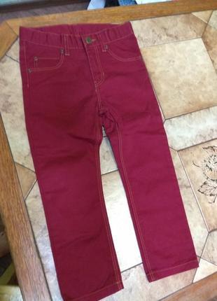 Джинсы, штаны бордовые h&m