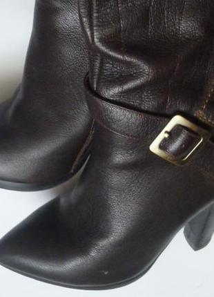 Сапоги luciano carvari кожа 37.7, 24.5 см, италия, коричневые сапожки