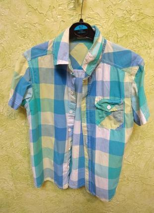 H&m рубашка с коротким рукавом
