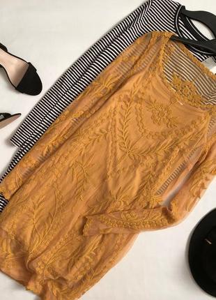 Красивейшее платье с вышивкой h&m