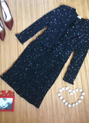 Шикарный трендовый костюм расшитый пайетками и бисером , размер l