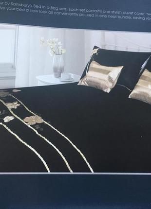 Импортный постельный комплект, покрывало на кровать,постельное белье,чёрное с золотым