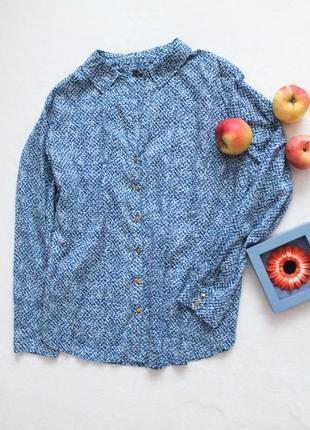 Голубая рубашка с принтом, размер 4xl-5xl