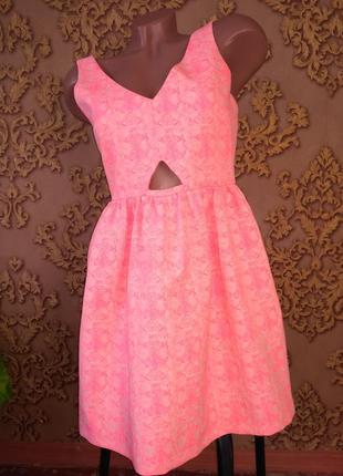 Красивое коралловое платье