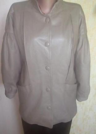 Франция!красивая куртка из 100 % лайковой кожи/ кожаная куртка/ жакет/куртка/косуха