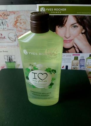 Эко-шампунь для блеска волос yves rocher (ив роше), 300мл