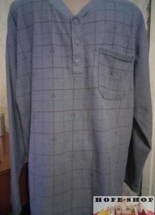 Мужская домашняя махрушка на тоненьком флисе, футболка для сна,для дома xl