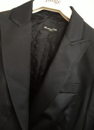 Massimo dutti пиджак черный классика