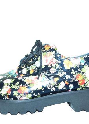 Женские туфли в цветочек