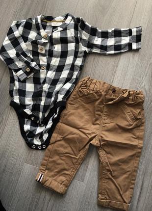 Рубашка и брюки чиносы next