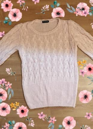 Супер теплый свитер розовый кофта