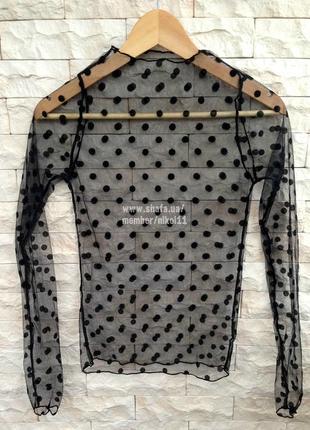 Эффектная прозрачная кофточка гольф сетка водолазка блузка блуза5