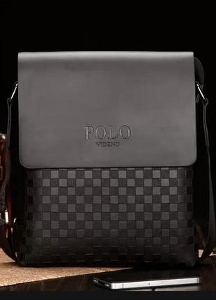 Мужская сумка через плечо поло polo черный
