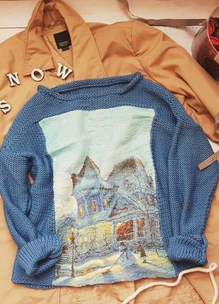 Мериносовый свитерок с валяной вставкой